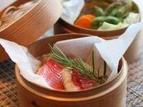 下田特産、金目鯛料理