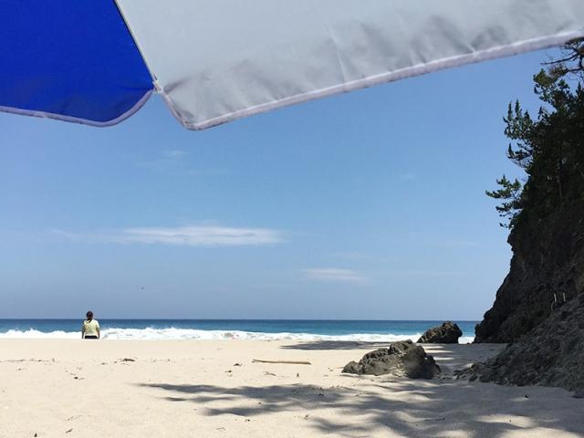 歩いてすぐ大浜ビーチ
