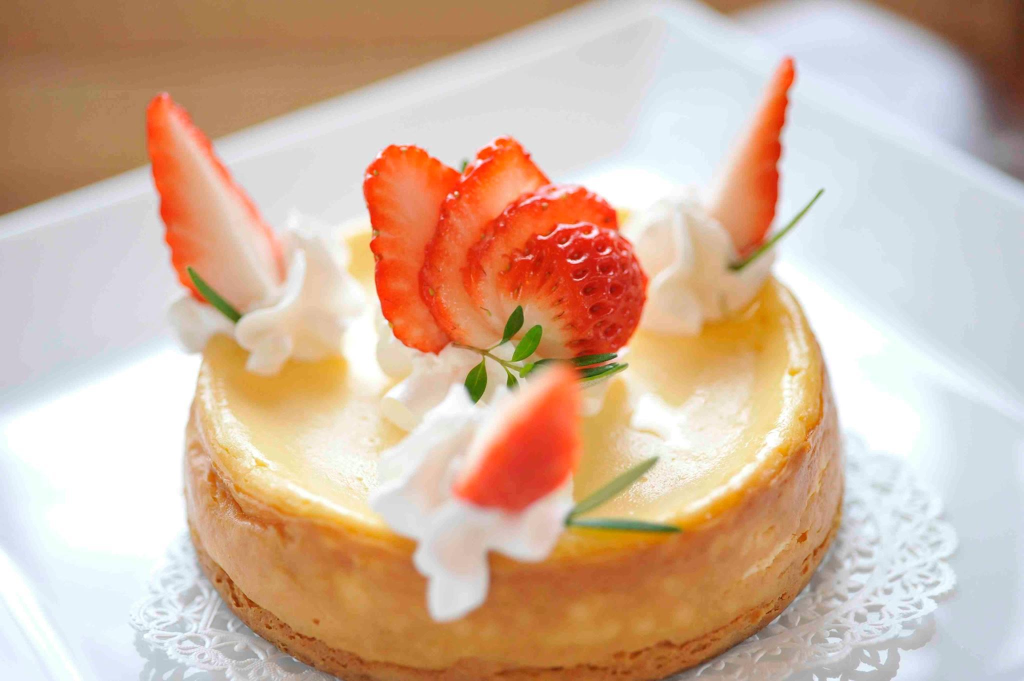 デザートのチーズケーキ
